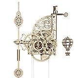 UGEARS Aero Uhr 3D Puzzle - Pendeluhr Aero Clock - Modellbau 3D Holzpuzzle Holzbausatz - Modellbausatz für Erwachsene aus Holz - Mechanisches Modell - Wanduhr mit Pendel - Mechanische Bausätze
