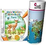 tiptoi Ravensburger Buch Wörterbilderbuch - Mein Wörter Bilderbuch Tiere + Kinder Wimmel Weltkarte - Länder, Tiere, Kontinente | ab 3 Jahre
