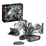 LEGO 42100 Technic Liebherr Bagger R 9800, App-gesteuertes Konstruktionsspielzeug für Fortgeschrittene mit Smarthub und interaktiven Motoren, Set für Kinder und Erwachsene