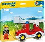 PLAYMOBIL 1.2.3 - 6967 Feuerwehrleiterfahrzeug, ab 1,5 Jahren