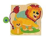 Hess-Spielzeug Holzbilderbuch Dschungel- Tiere