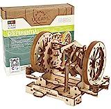 UGEARS STEM Lab 3D Puzzles - Spielset STEM - 3D Holzbausatz - DIY Mechanical Science Kit - Wissenschaftliches STEM Spielzeug mit App Holzmodell Kits für Erwachsene und Kinder 8+ (Differenzialgetriebe)