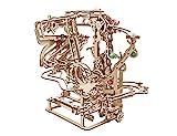 UGEARS 3D Puzzle Kugelbahn aus Holz - Murmel-Kettenbahn - DIY Spielset - Holzmurmelbahn - Modellbausatz für Erwachsene - Kugelbahn aus Holz - Kinetische Skulptur 3D Holzpuzzle - Konstruktionsspielzeug